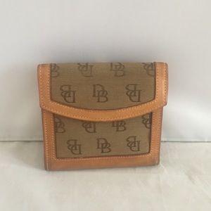 Dooney & Bourke Monogram Tan Wallet